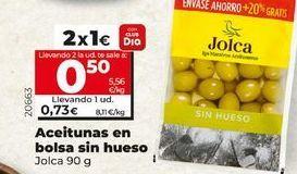Oferta de Aceitunas en bolsa  sin hueso Jolca por 1€