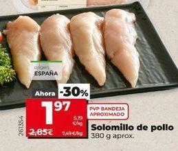 Oferta de Solomillo de pollo por 1,97€