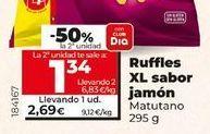 Oferta de Ruffles XL sabor jamón  por 2,69€