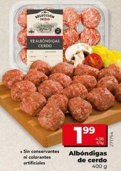 Oferta de Albóndigas de cerdo por 1,99€