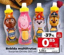 Oferta de Bebidas mutifrutas Suprise Drinks por 0,85€