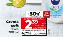 Oferta de Crema Soft Nivea por 4,79€