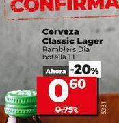 Oferta de Cerveza Classic Lager Dia por 0,6€