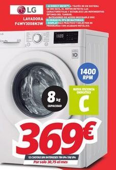 Oferta de Lavadoras LG por 369€
