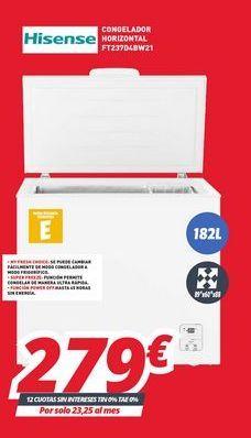 Oferta de Congeladores Hisense por 279€
