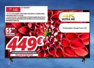Oferta de Smart tv LG por 449€