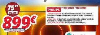 Oferta de Smart tv Philips por 899€