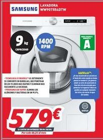 Oferta de Lavadoras Samsung por 579€