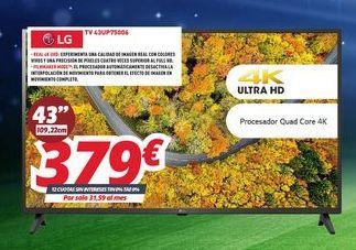 Oferta de Smart tv LG por 379€