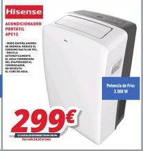 Oferta de Aire acondicionado Hisense por 299€