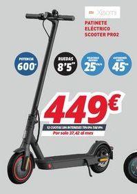 Oferta de Patinete eléctrico Xiaomi por 449€