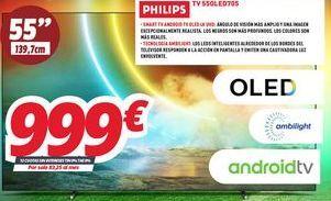 Oferta de Tv led Philips por 999€