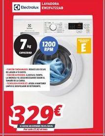 Oferta de Lavadoras Electrolux por 329€