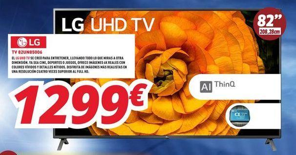 Oferta de Smart tv LG por 1299€