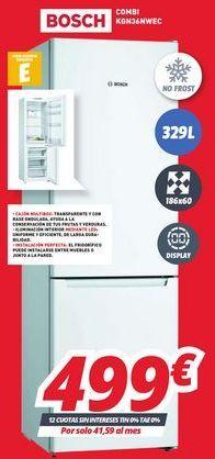 Oferta de Frigorífico combi Bosch por 499€