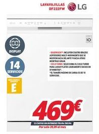 Oferta de Lavavajillas LG por 469€