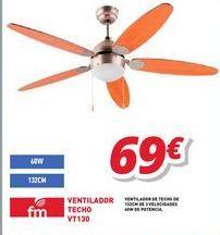 Oferta de Ventilador de techo por 69€