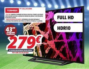 Oferta de Smart tv Toshiba por 279€