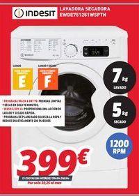 Oferta de Lavadoras Indesit por 399€