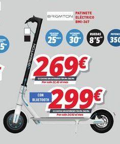 Oferta de Patinete eléctrico Brigmton por 269€