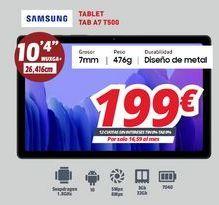 Oferta de Tablet Samsung por 199€