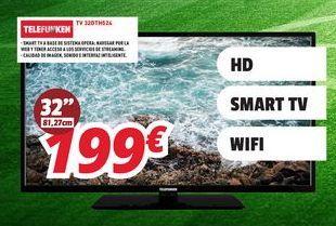 Oferta de Smart tv Telefunken por 199€