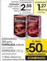 Oferta de Los cafés FORTALEZA señalizados  por 2,55€