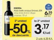 Oferta de EDREEA Vino tinto D.O.C Rioja  por 6,35€