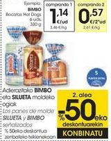 Oferta de Los panes de molde SILUETA y BIMBO señalizados  por 1,14€