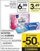 Oferta de Productos SCOTTEX y KLEENEX señalizados  por 6,99€