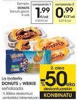 Oferta de La bollería DONUT y WEIKIS señalizados  por 1,99€