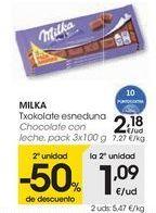 Oferta de MILKA Chocolate con leche  por 2,18€