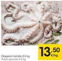 Oferta de Pulpo grande  por 13,5€