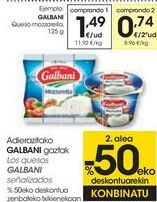 Oferta de Los quesos GALBANI señalizados  por 1,49€