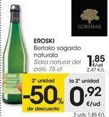 Oferta de EROSKI Sidra natural del país  por 1,85€