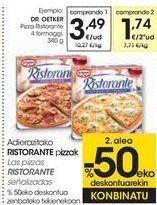 Oferta de Las pizzas RISTORANTE señalizados  por 3,49€