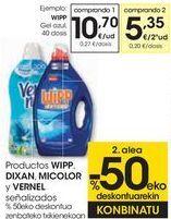 Oferta de Productos WIPP. DIXAN, MICOLOR y VERNEL señalizados  por 10,7€