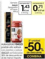Oferta de Las pastas y salsas GALLO Señalizados  por 1,43€