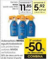 Oferta de Los protectores solares NIVEA señalizados  por 11,85€