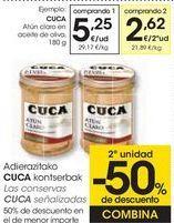 Oferta de Las conservas CUCA Señalizados  por 5,28€