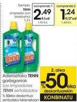 Oferta de Los limpiadores TENN señalizados  por 2,49€