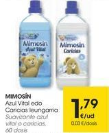 Oferta de MIMOSÍN Suavizante azul vital o caricias  por 1,79€