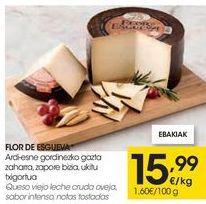 Oferta de FLOR DE ESGUEVA Queso viejo leche cruda oveja, sabor intenso, notas tostadas  por 15,99€