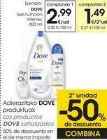 Oferta de Los productos DOVE señalizados  por 2,99€