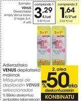 Oferta de Máquinas de depilación VENUS seleccionadas  por 3,29€