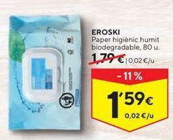 Oferta de Papel higiénico eroski por 1,59€