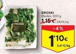 Oferta de Acelgas eroski por 1,1€