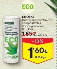 Oferta de Bolsas de basura eroski por 1,6€