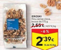 Oferta de Nueces eroski por 2,39€