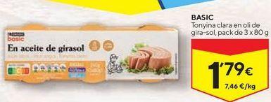 Oferta de Atún claro eroski por 1,79€